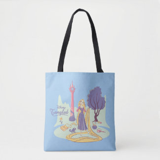 Rapunzel & Pascal in Pretty Pastels Tote Bag