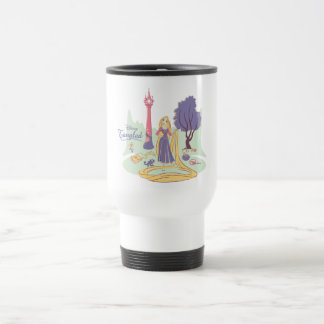 Rapunzel & Pascal in Pretty Pastels Travel Mug