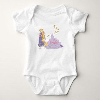 Rapunzel & Pascal in Purple Baby Bodysuit