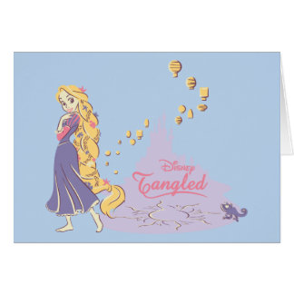 Rapunzel & Pascal in Purple Card
