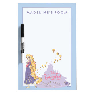Rapunzel & Pascal in Purple Dry Erase Board