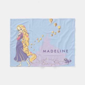 Rapunzel & Pascal in Purple Fleece Blanket