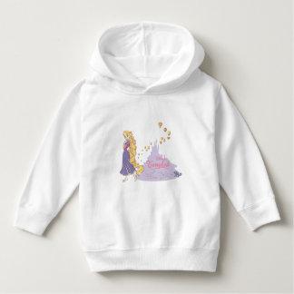 Rapunzel & Pascal in Purple Hoodie