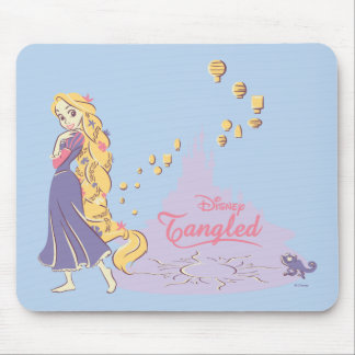 Rapunzel & Pascal in Purple Mouse Pad