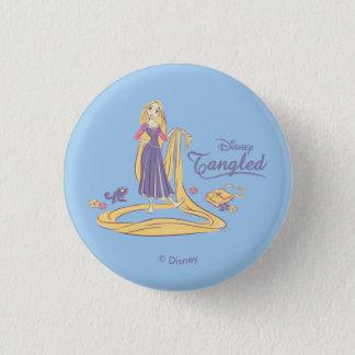 Rapunzel & Pascal Purple Pastels 1 Inch Round Button