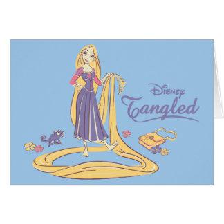 Rapunzel & Pascal Purple Pastels Card