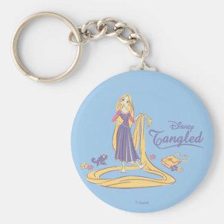Rapunzel & Pascal Purple Pastels Keychain
