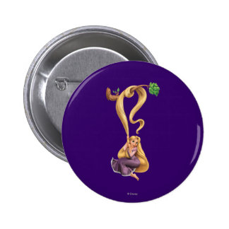 Rapunzel Swinging from Branch 2 2 Inch Round Button