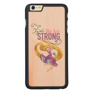 Rapunzel | Together We Are Strong Carved® Maple iPhone 6 Plus Case