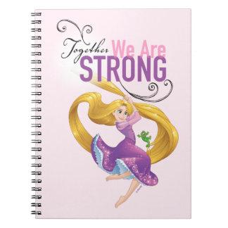 Rapunzel   Together We Are Strong Spiral Notebook