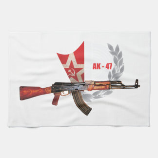 RARE AK-47 ARMY KALASHNIKOV GUN MILITARY KITCHEN TOWEL