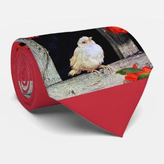 RARE albino robin bird Tie