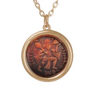 RARE ANCIENT 1818 HANUMAN COIN PENDANT