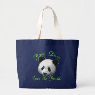 Rare Bear Save the Pandas Large Tote Bag