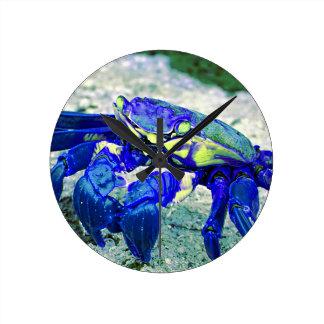 Rare Blue Crab Round Clock