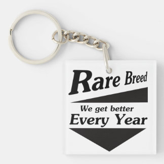 Rare Breed Double-Sided Square Acrylic Keychain