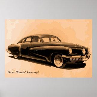 Rare classic car Tucker 1948 Poster