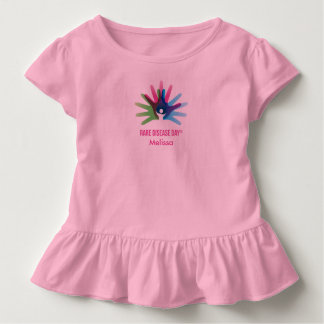 Rare Disease Day Toddler Ruffle Tee