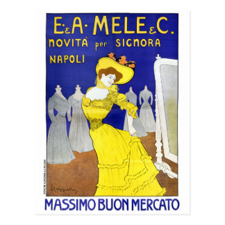 Rare E. A. Mele, Naples, Italy 1902 Vintage Poster Postcard