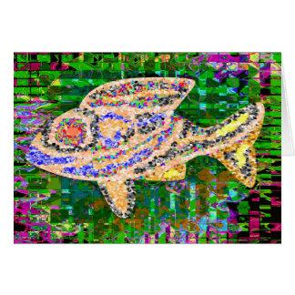 Rare Golden Fish - Creative Arts Card