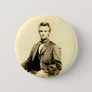 RARE President Abraham Lincoln STEREOVIEW VINTAGE 2 Inch Round Button