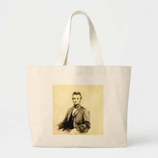 RARE President Abraham Lincoln STEREOVIEW VINTAGE Large Tote Bag