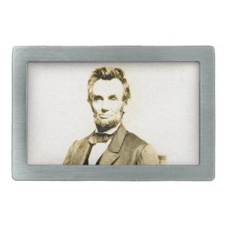 RARE President Abraham Lincoln STEREOVIEW VINTAGE Rectangular Belt Buckles