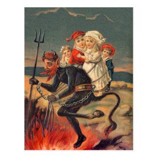 Rare Redheaded Krampus Postcard