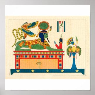 Rare Sphinx Egyptian Art Poster