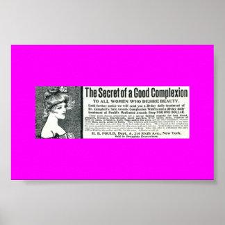 Rare Vintage Ad ARSENIC SOAP, Women's Toiletries Poster