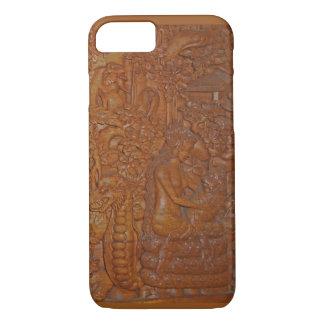 Rare Vintage Bali Wood Art iPhone 8/7 Case