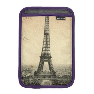 Rare vintage postcard with Eiffel Tower in Paris Sleeve For iPad Mini