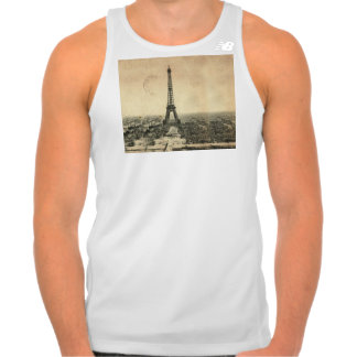 Rare vintage postcard with Eiffel Tower in Paris Tank Top