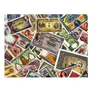 RARE WORLD BANKNOTES POSTCARD