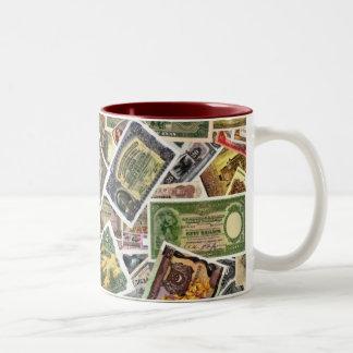 RARE WORLD BANKNOTES Two-Tone COFFEE MUG