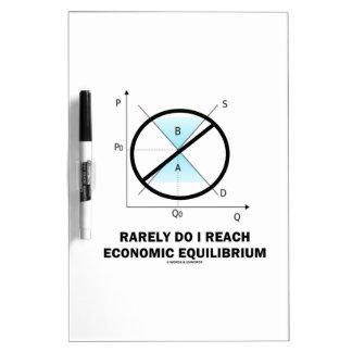 Rarely Do I Reach Economic Equilibrium (Economics) Dry-Erase Whiteboard