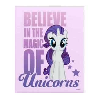 Rarity | Believe In The Magic Of Unicorns Acrylic Print