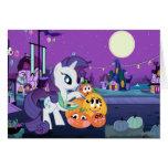 Rarity Painting Pumpkins Card