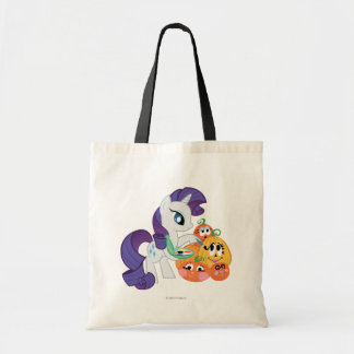 Rarity Painting Pumpkins Tote Bag