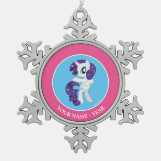 Rarity Snowflake Pewter Christmas Ornament