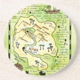 Rascals' Island Treasure Map Coaster