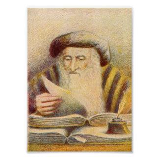 Rashi - Rabbi Solomon Yitzchaki Photo Print