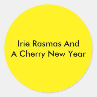 Rasmas holidays classic round sticker