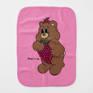 Raspbearry - Zaubaerland Burp Cloth