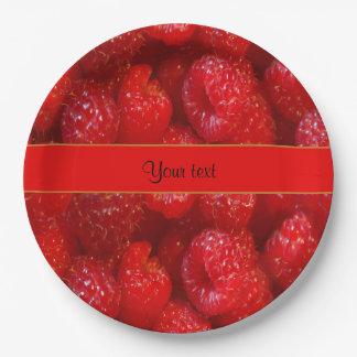 Raspberries 9 Inch Paper Plate