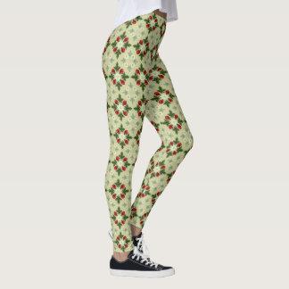 Raspberries and Blossoms Leggings