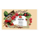 Raspberries and Blossoms Victorian Double-Sided Standard Business Cards (Pack Of 100)