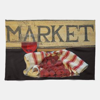 Raspberries at the Market Kitchen Towel