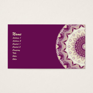 Raspberries & Cream Kaleidoscope Business Card