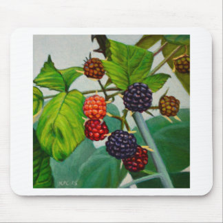 Raspberries Mouse Pad
